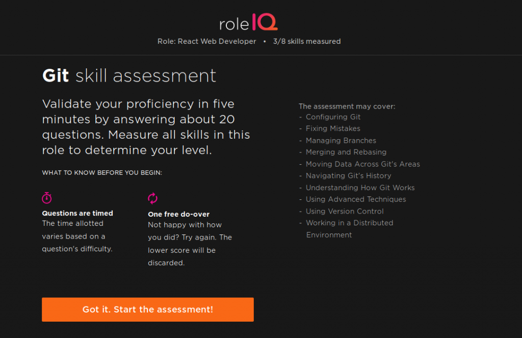 Pluralsight git assessment